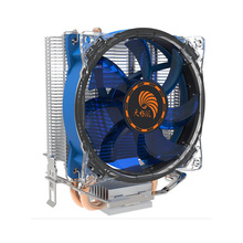 Low Noise Copper Pipe Cpu Heatsink Fan With Blue <strong>RGB</strong>