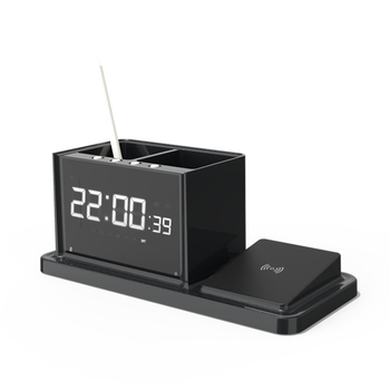 MIQ new Digital  Display  LED Alarm Clock with Wireless Charger