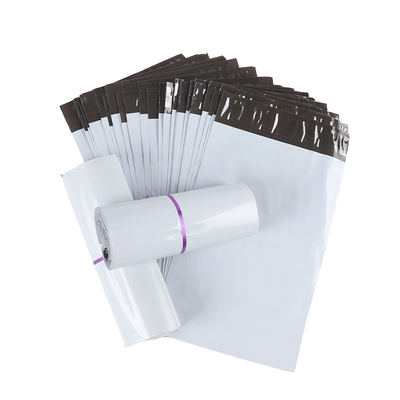 custom printed logo white <strong>poly</strong> mailers envelope courier bags for postal shipping packaging