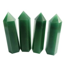 Wholesale Natural polished gem Aventurine tower wand Healing Aventurine Obelisk <strong>Points</strong>