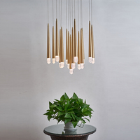 Gold chandelier LED Pendant Lightings Lamp Chandeliers Lighting Modern for Hotel Lobby Restaurant