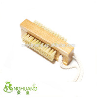 Doubleside Beech wood handle nail brush