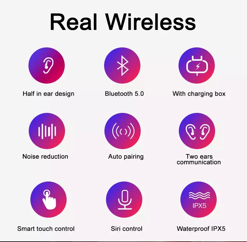 Original 1: 1 Mini pocket Portable Pop-up window Wireless Bluetooth Earphones i10 XS TWS 5.0 For iPhone XR for HUAWEI P30 Pro