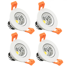 4 Pack 3W Dimmable LED <strong>Downlight</strong>, Cut-Out 2in(51mm), 60 Beam Angle COB Directional Recessed Ceiling Light