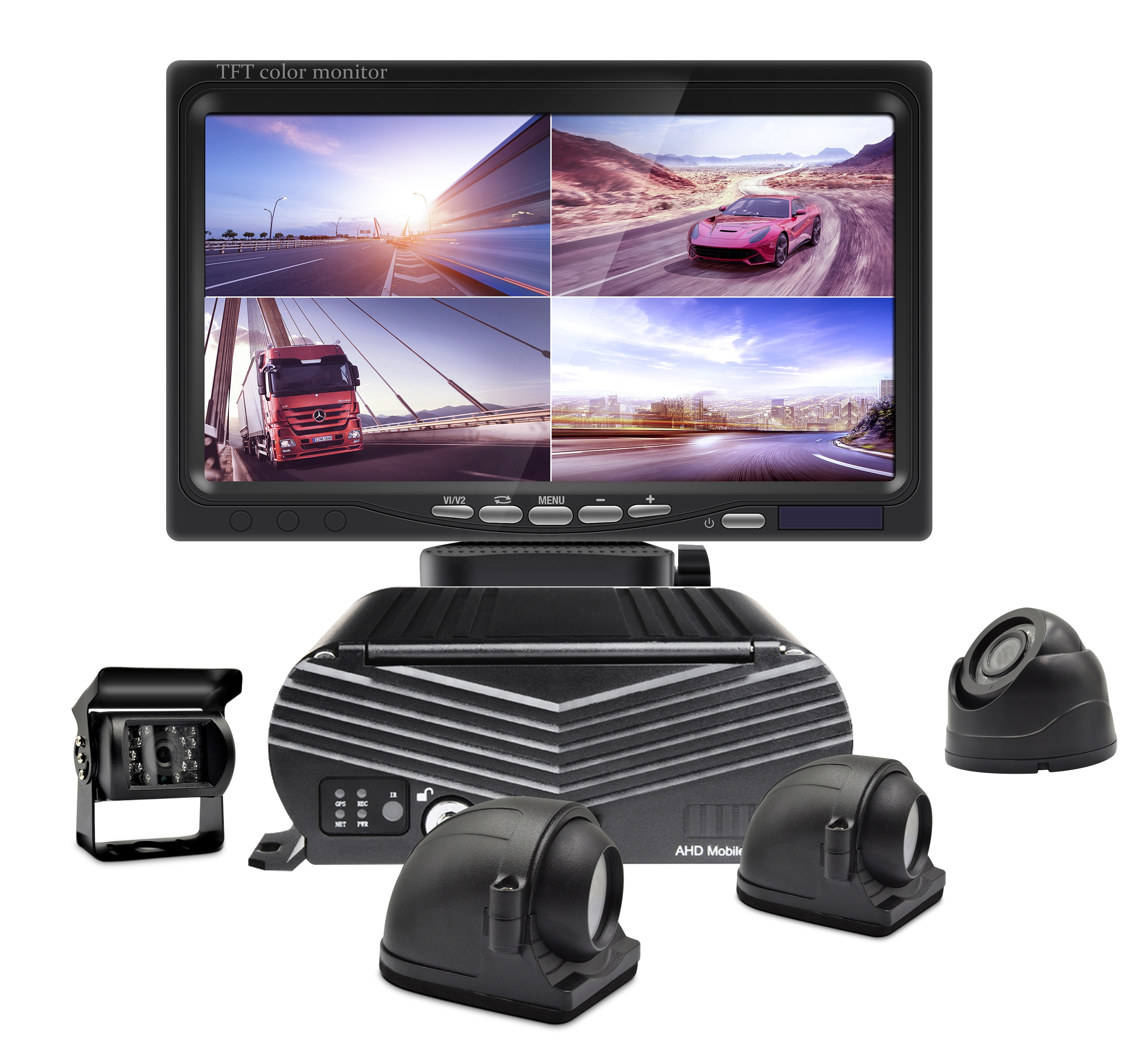 4 <strong>Channel</strong> 1080p H.264 Car GPS Tracking 3G 4G WiFi Hard Disk Mobile DVR Dash Cam Vehicle Bus Truck Reversing Driving Aid