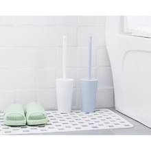 2020 Japanese Design Compact Freestanding Plastic Toilet Bowl <strong>Brush</strong> and Holder for Bathroom Storage and Organization
