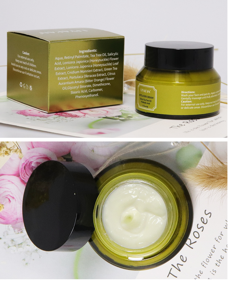 Best Korean Green Tea  Skin Care Cream, 2% Salicylic Acid Face Anti Acne Cream