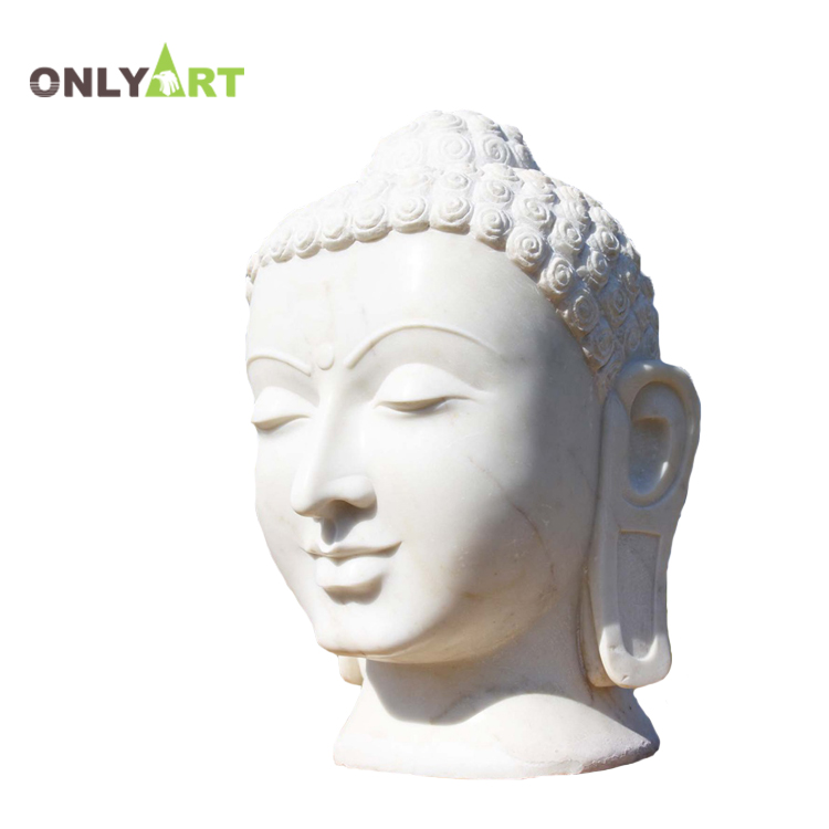 Factory direct price marble outdoor garden large white stone meditating sitting buddha statue for sale