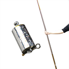 Staff Portable Martial Arts Staff Prop Metal High Elasticity Steel Silver Stick 110CM Stretchable Magic Trick Pocket