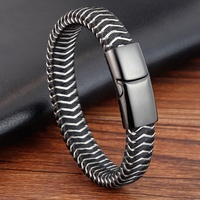 Unique Canvas Mixing Stainless Steel Rope Jewellery Bracelet Bangle