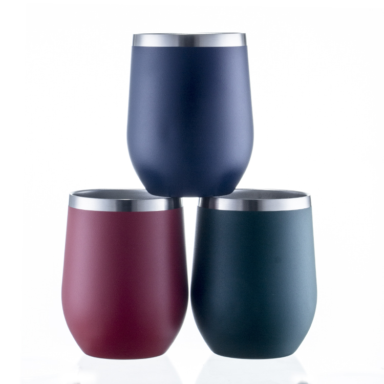 Wholesale Custom <strong>12</strong> oz Vacuum Double Wall Stainless Steel Swig Egg Wine Cup Blank Sublimation Tumbler