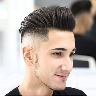 Factory <strong>price</strong> popular men's wig replacement system thin skin hot sale real human styling products men wigs