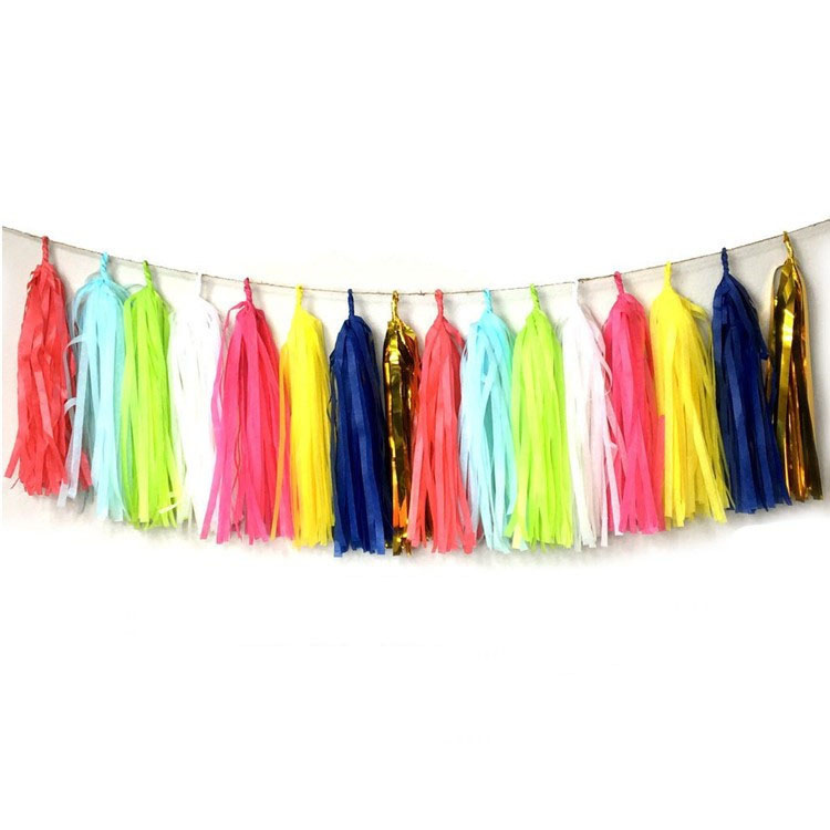 Tissue Paper Tassels for Wedding Baby Shower Event and Party Supplies