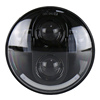 "5 3/4"" 5.75 inch Round Led Motorcycle Headlight 45W Projector DRL Angel Eyes Half Halo Headlamp"