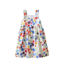 Children's Sleeveless Colorful Point <strong>Dress</strong> <strong>Girl's</strong> Loose and Cool <strong>Dress</strong> New Kids'<strong>Dress</strong>