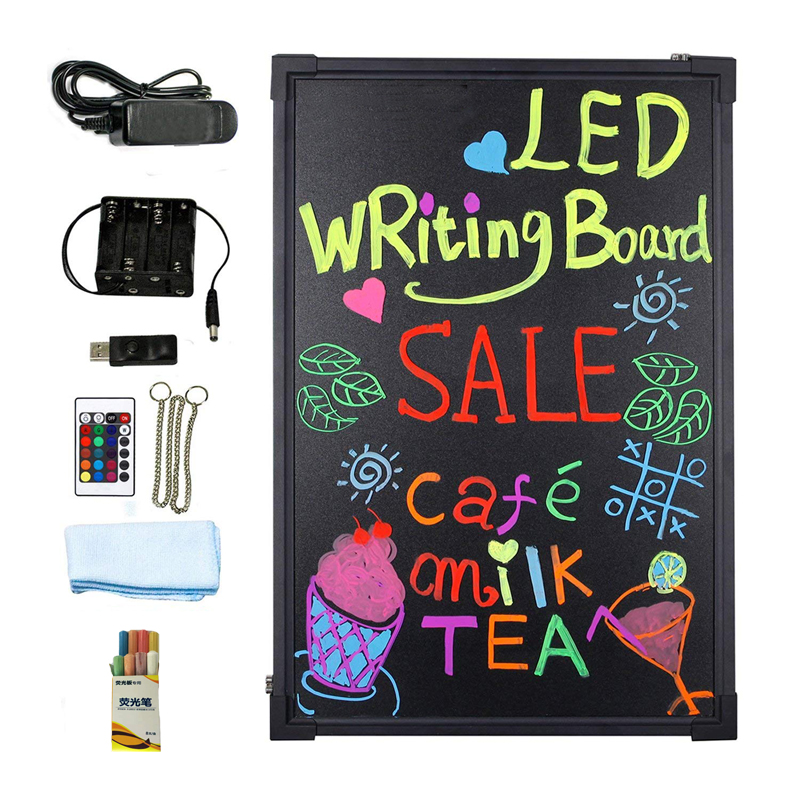 12*16inch <strong>Led</strong> flashing sign board neon <strong>led</strong> writing board for bar restaurant shop