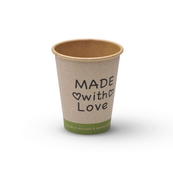 16oz paper cups with lids kraft singe wall personalized logo print coffee cups