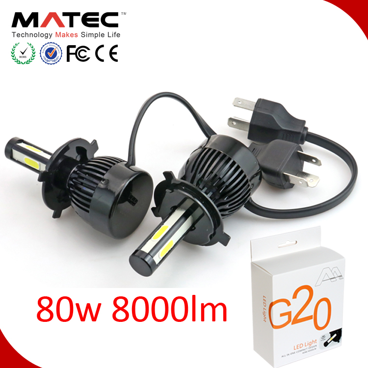 Accessories Auto Parts G20 daytime lamp assembly h7 h8 h9 h11 9012 9004 9007 hb4 hb3 5202 motorcycle led <strong>headlight</strong> for car