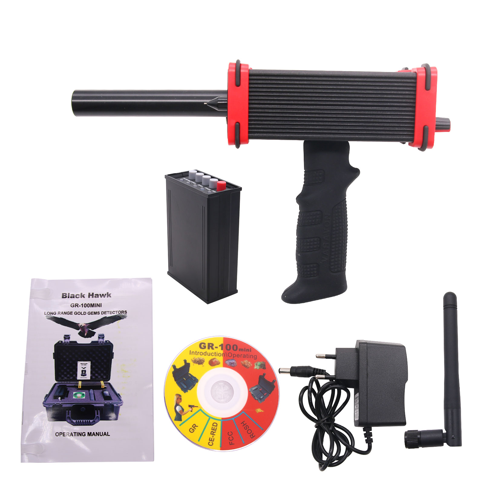 Mini GR-100 Red Long Range Gold Detector Underground Gold Silver Gem Diamond Metal Detector