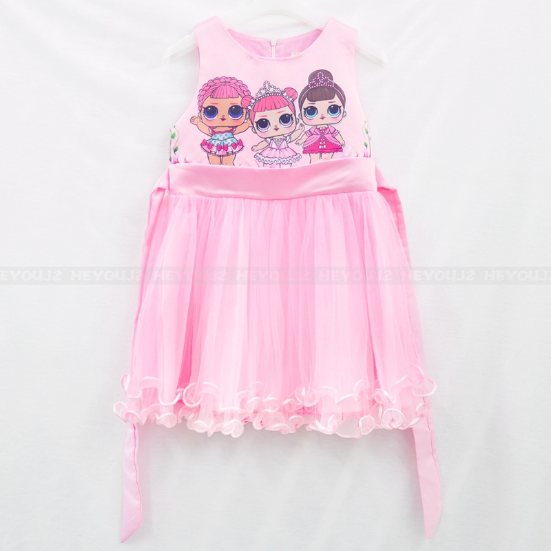 Wholesale 2019 new design children's gauze dress popular cartoon kids dress