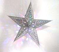 Wholesale Chinese LED Paper Five Point Lantern Star For Festival Hanging Decorations