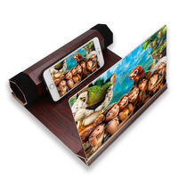 12 Inch Wood Screen HD Amplifier Enlarge Stand Cell Phone 3D Smartphone Video Screen Stand for All For Mobile Phone