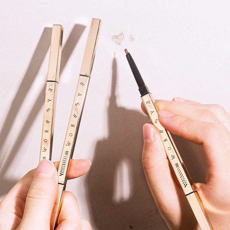 Micro black professional retractable best unbranded 4 in <strong>1</strong> rose gold mini natural great quality eyebrow pencil