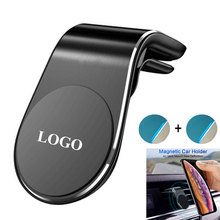 Amazon Top Seller 2019 Luxury Magnetic L Shape Air Vent Clip Mount Stand in Car Accessories Magnet GPS Mobile Cell <strong>Phone</strong> <strong>Holder</strong>