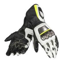 Fluorescent Yellow Full Metal <strong>D1</strong> Leather Gloves for Motorcycle Race Motorbike Off-Road Racing
