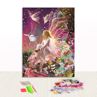 Hot Selling Fairy Butterfly Round Drill Diamond Painting Canvas for Fun