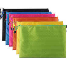 Wholesale or Custom Football-shaped Lines Waterproof A4 size Zipper Document File Bag Organizer