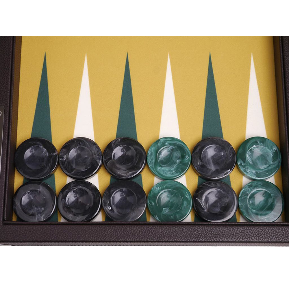21 inch professional backgammon set game board leather