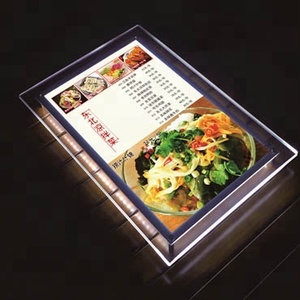 High Quality Acrylic Crystal Light Box For Real Estate Agent LED Window Display LED Hanging Slim Light Box