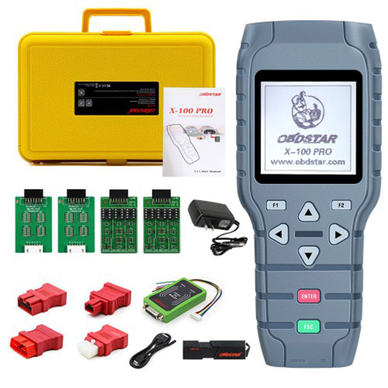OBDSTAR X100 <strong>X</strong>-<strong>100</strong> <strong>X</strong> <strong>100</strong> PROS C+D+E model Key Programmer with EEprom Adapter+IMMOBILISER+Odometer Adjustment Replace <strong>X</strong>-<strong>100</strong> Pro