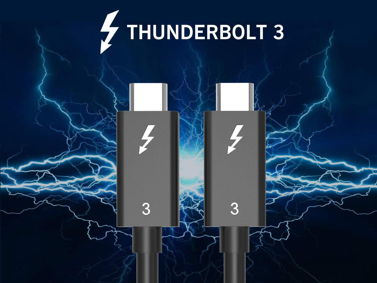 thunderbolt 3 cable type c type c 40G 100W 1.5ft 3ft 6ft USB IF Certified
