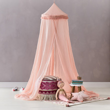 Play House Tassels Design Hanging Mosquito <strong>Tent</strong> Antique Single Canopy Bed for Kids