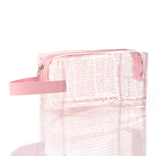 2019 summer explosion models pvc transparent cosmetic <strong>bag</strong> Creative <strong>newspaper</strong> pattern storage <strong>bag</strong> Travel wash <strong>bag</strong> wholesale