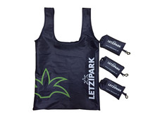 Custom Printed <strong>Logo</strong> Folding Shopping Grocery Reusable Foldable Tote bag polyester shopping bag