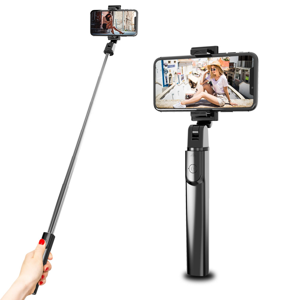 2019 Hot Selling Portable Selfie Stick Tripod Bluetooth , Flexible <strong>Mobile</strong> Selfie Stick for smartphone