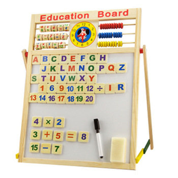 China Kids Toy Multi-Functional Double-Sided Magnetic Drawing Board Wooden Toys Montessori For Kids Educational