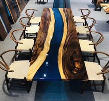 Luxury Coffee Solid Wood River design Dining <strong>table</strong> restaurant <strong>table</strong> Resin Epoxy <strong>table</strong>