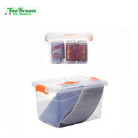 Home Use Kitchen Small Clear Plastic Storage Boxes with Lids