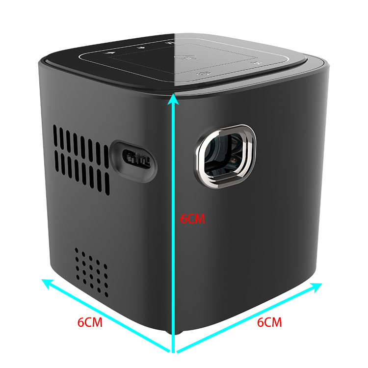 Mini Pico cubic Android Smart Touch DLP <strong>projector</strong> with WIFI Bluetooth speaker rechargeable battery inside Best Seller Factory