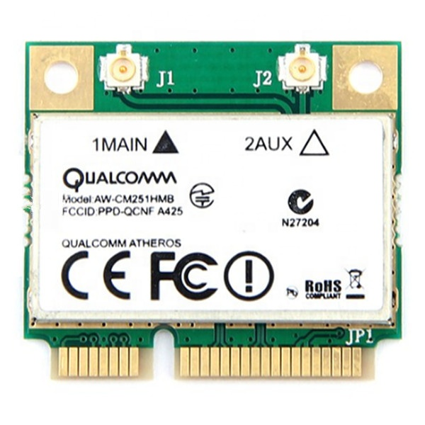 Wireless-AC Dual Band For Qualcomm Atheros QCA9377 AW-CM251HMB Mini PCI-E Wifi Card 433Mbps BT4.1 802.11ac 3160