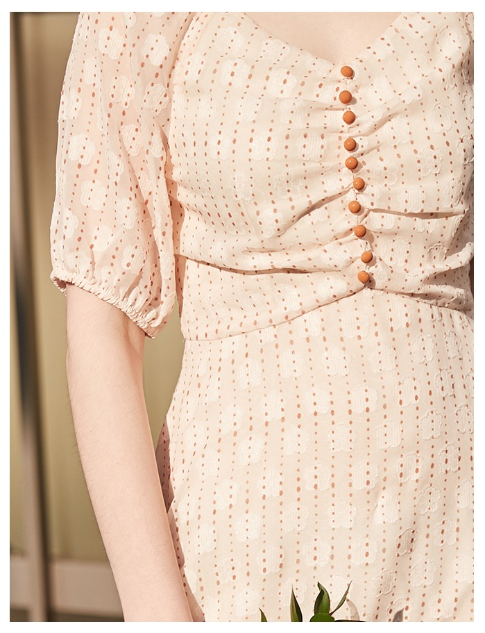European summer lovely girl v-neck women ruffles sleeves sweet floral lady mini chiffon dress back invisible zipper cf buttons