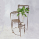 Rustic Outdoor Garden Foldable Balcony Corner Circle Metal Iron Flower Pot 4 Tiers Planter Plant Stand