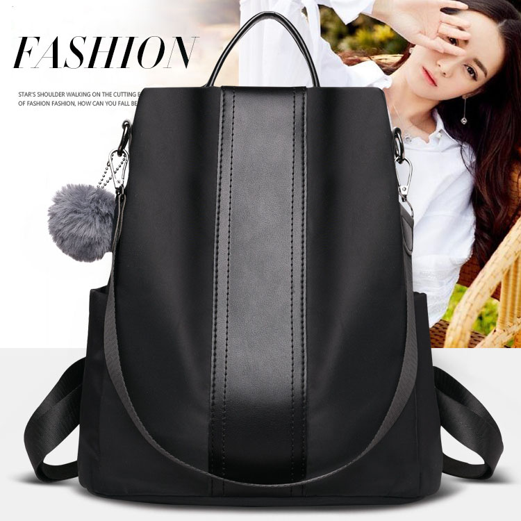 Oxford shoulder bag ultra-light waterproof nylon backpack lady leisure travel bag wear-resistant burglar-proof outdoor equipment