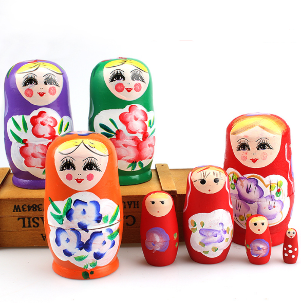 Wholesale Home Decor Russian Wooden Babushka Nesting Doll