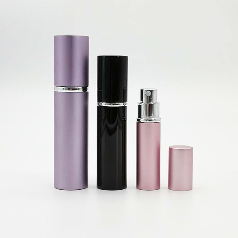 Hot Sale Round Gold Fine Mist Pocket Cosmetic 5ml 8ml 10ml 15ml 20ml Aluminum Refillable Perfume Spray Bottle