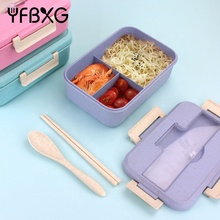 Wheat fiber eco-friendly food grade plastic bento lunch box for kids and adults
